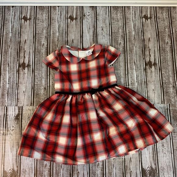 New Carter/'s Girls Holiday Dress Buffalo Red Black Plaid Christmas NWT 18m 24m